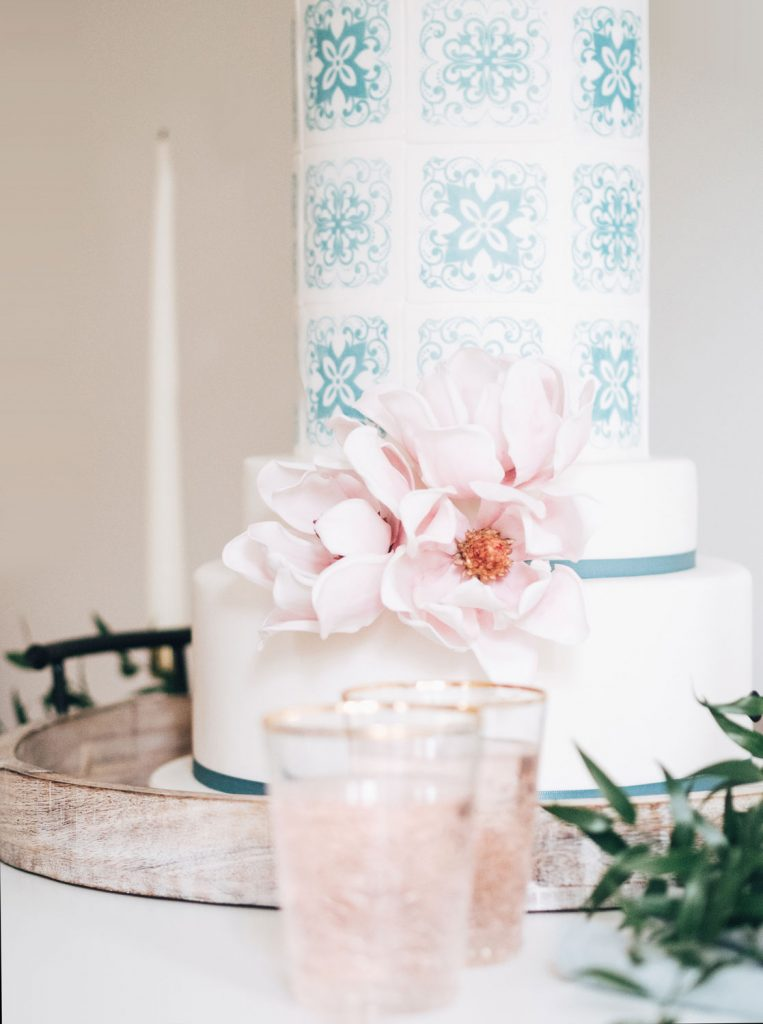 portuguese inspired wedding cake